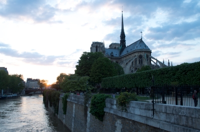 Notre Dame - West End at Sunset