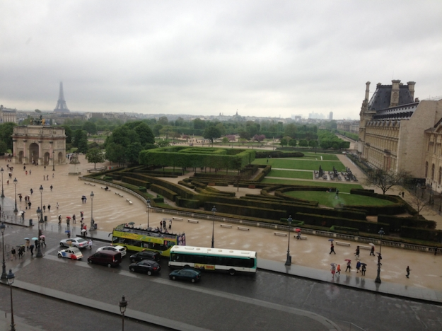 Rainy Paris from the Louvre