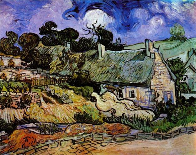 Original photo at http://www.wikipaintings.org/en/vincent-van-gogh/houses-with-thatched-roofs-cordeville-1890#close