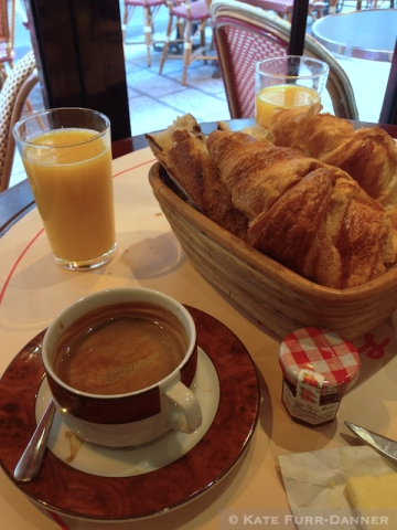 Our last breakfast in Paris - Cafe L'Atlas