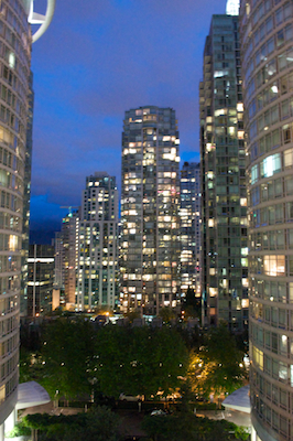 Apartment Buildings Nighttime Medium