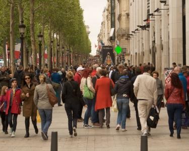 Champs Élysées Sidewalk