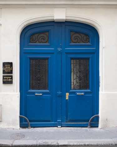 Colored Door - Arched Blue 1