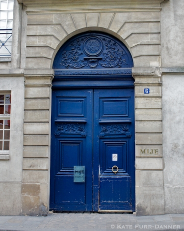Colored Door - Arched Blue