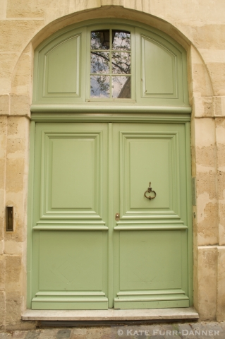 Colored Door - Arched Light Green