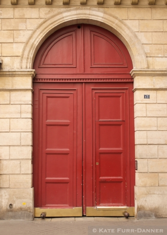 Colored Door - Arched Red No 13