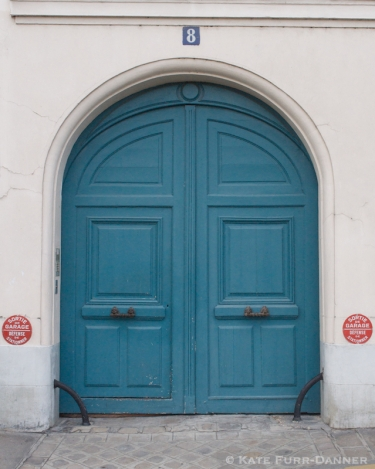 Colored Door - Arched Teal