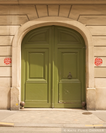 Colored Door - Olive