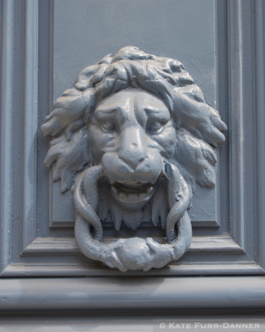 Door Knocker - Lion Snake