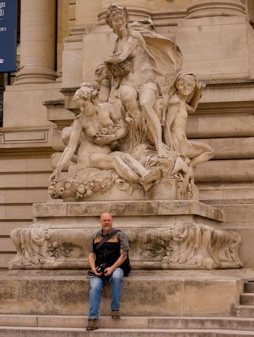 Petit Palais Entrance Statue