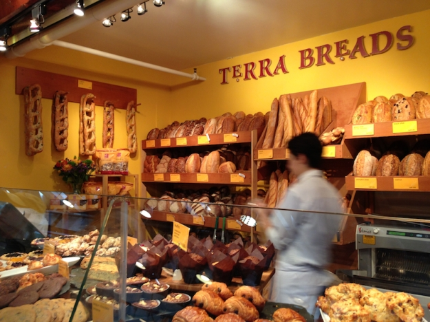 Terra Breads sold us some delicious sourdough and pain au chocolate!