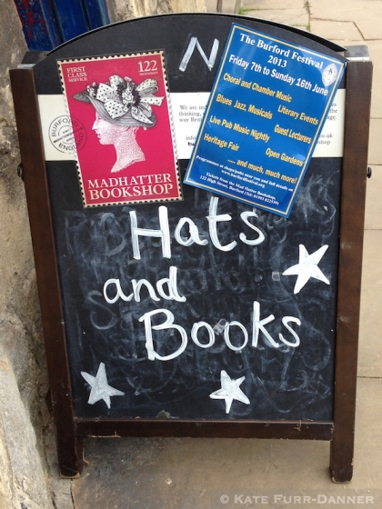 Hats and Books in Burford