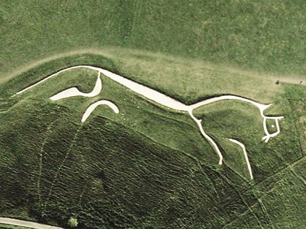 Uffington White Horse NASA