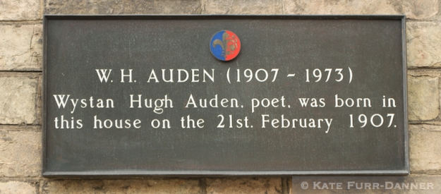 Auden Birthplace Plaque
