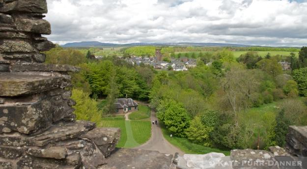 Doune Castle Rooftop View