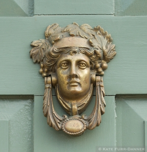Art Nouveau Door Knocker Green Door