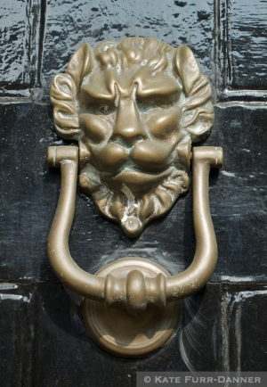 Lion Door Knocker Chipping Campden